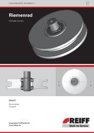 Riemenrad - REIFF Technische Produkte