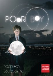 POOR BOY Education Pack - Auckland Theatre Company