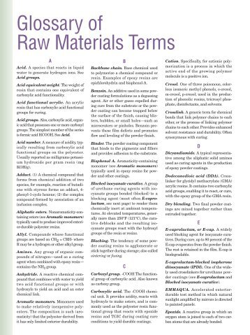 Raw Materials Glossary - Powder Coating