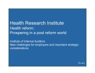 Health Research Institute - IIA Dallas Chapter
