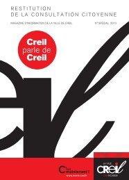 Magazine Creil Maintenant n° spécial Restitution de ... - Ville de Creil