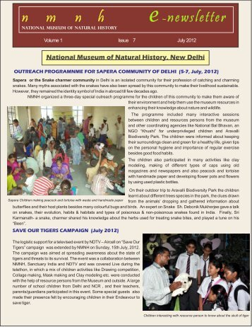 E-Newsletter-JULY 12 - National Museum of Natural History