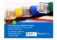 The Exposure Matrix Project