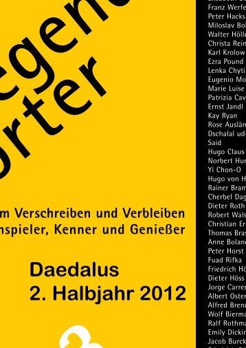 Daedalus 2. Halbjahr 2012