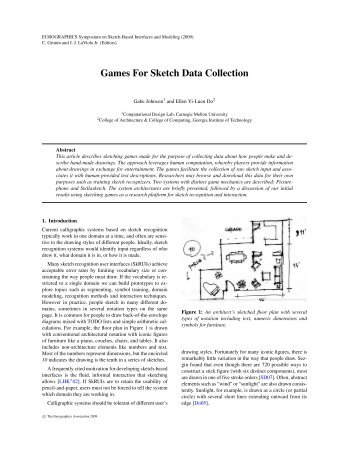 Games For Sketch Data Collection - Computational Design Lab ...