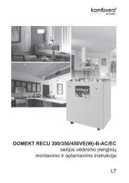 RECU 300/350/450 montavimo instrukcija - Komfovent