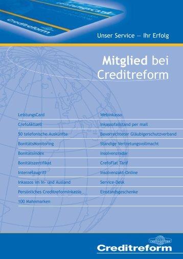 Mitglied bei Creditreform