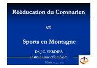 reéducation du coronarien et sports en montagne - Club des ...