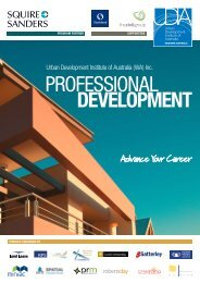 PROFESSIONAL DEvELOPMENT - Urban Development Institute of ...