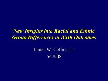 Insights into Racial and Ethnic Group ... - Unnatural Causes