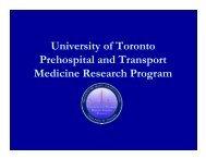 Fall CME 2008 - Emergency Medicine - University of Toronto