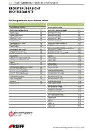 StanDaRDPROgRamm O-Ringe - REIFF Technische Produkte