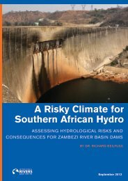 A Risky Climate for Southern African Hydro - International Rivers