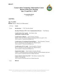 Conservation Technology Information Center Board of Directors ...