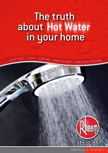 The truth about in your home Hot Water - Rheem New Zealand