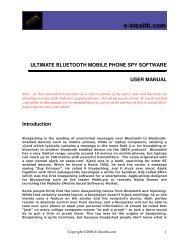 ULTIMATE BLUETOOTH MOBILE PHONE SPY SOFTWARE USER ...