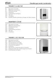 Chaudière gaz murale à condensation THISION® S ... - ELCO Belgium