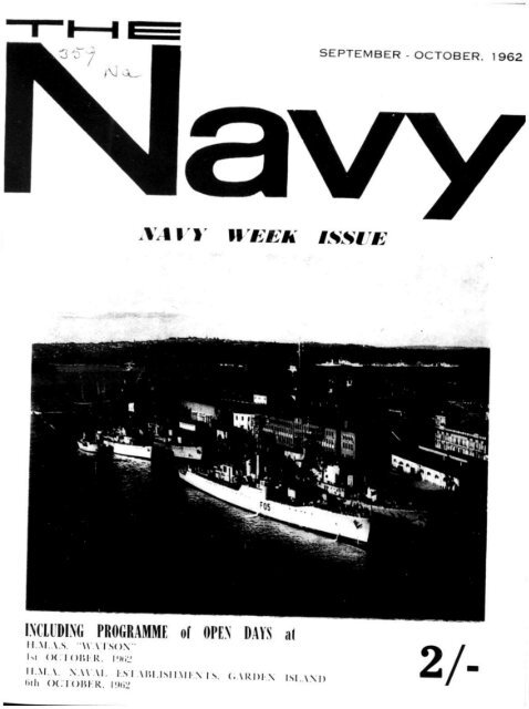 Sep-Oct, Nov, Dec 1962-Jan 1963 - Navy League of Australia