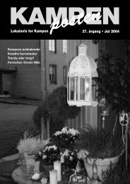 posten27. årgang • Jul 2004 Lokalavis for Kampen - Kampenposten