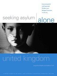 Seeking Asylum Alone - Child Trafficking