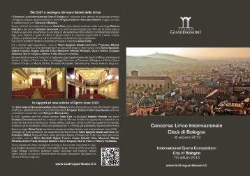 Concorso Lirico Internazionale Città di Bologna - VII edizione 2013