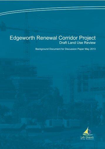 Edgeworth Renewal Corridor Project - Lake Macquarie City Council