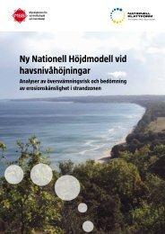 Ny nationell höjdmodell vid havsnivåhöjningar - Myndigheten för ...