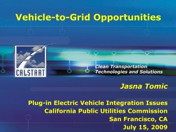 Jasna Tomic, CALSTART - California Public Utilities Commission