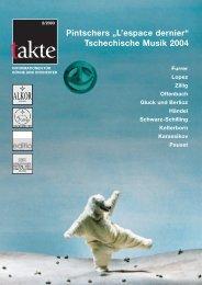 "Pintschers ""L'espace dernier"" Tschechische Musik 2004"