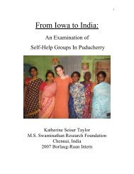 From Iowa to India: - The World Food Prize