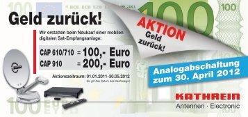 Geld-zurück-Aktion COUPON - bis 30.05.2012 - Reimo