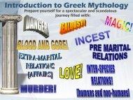 Introduction to Greek and Roman Mythology