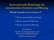 Interventionelle Radiologie der mesenterialen Ischämie und Blutung