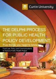 Delphi Process Public Health Policy Development - Health Sciences ...