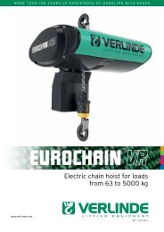 Electric chain hoist for loads from 63 to 5000 kg