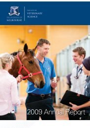 2010 Annual Report - Faculty of Veterinary Science - University of ...