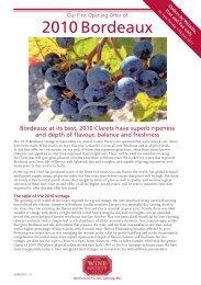 2010 Bordeaux - The Wine Society