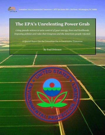 The EPA's Unrelenting Power Grab