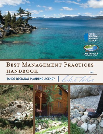 BEsT MANAGEMENT PRACTICEs HANDbooK - Tahoe BMP