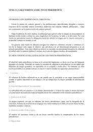 TEMA 11. CARACTERÍSTICAS DEL TEXTO PERIODÍSTICO I ...