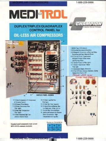 Meditrol Control Panel information - McGuire Air Compressors, Inc