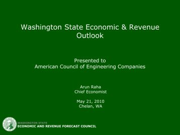 State Economic & Revenue Outlook Apr 2009 - ACEC of Washington