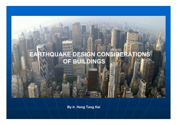 Earthquake Design Considerations of Buildings - Gnpgeo.com.my