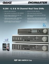 H.264 - 4, 8 & 16 Channel Real Time DVRs - Martco