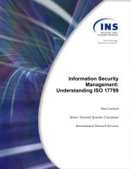 Information Security Management: Understanding ISO 17799 - GTA