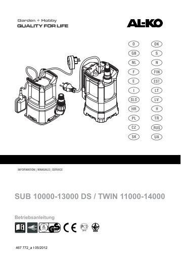 SUB 10000-13000 DS / TWIN 11000-14000 - AL-KO Garten + Hobby