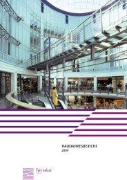 Halbjahresbericht 2009 - Fair Value REIT-AG