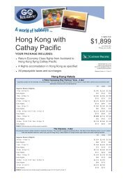 Hong Kong with Cathay Pacific - Searle Travel