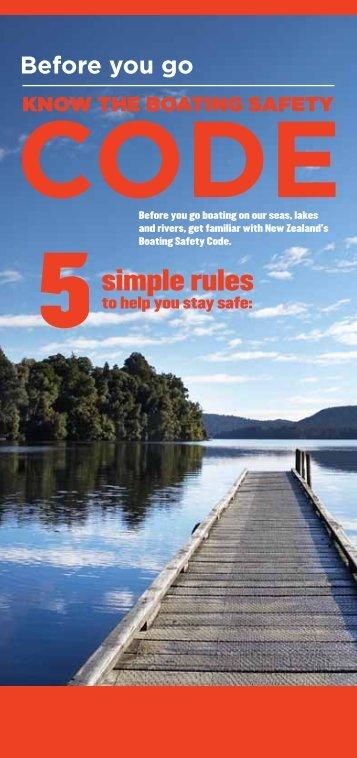 Boating Safety Code - Coastguard New Zealand