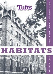 Habitats: Guide to On-Campus Living - Tufts University